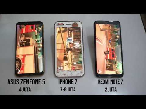 REDMI NOTE 7 VS IPHONE 7 VS ASUS ZENFONE 5 VERSI ANTUTU