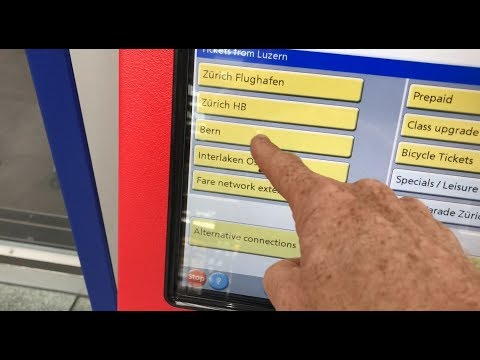 Easy Travels In A Modern Swiss Train Station