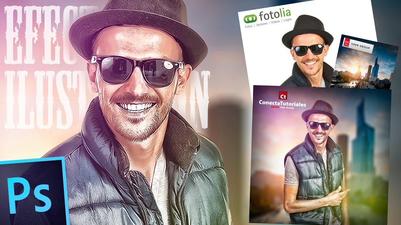 Dibujos Para Photoshop: Tutorial Photoshop // Foto Con Efecto Ilustración By