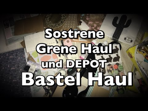 Sostrene Grene Haul und Depot Haul, Stationery Haul, Bastelhaul, DIY, Scrapbook