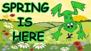 "Popular children's dance song about spring, ""Spring is Here"" with l..."