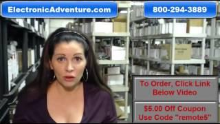 Original Sharp RRMCGA425WJSB AQUOS TV Remote Control $5 Off Coupon -ElectronicAdventure.com