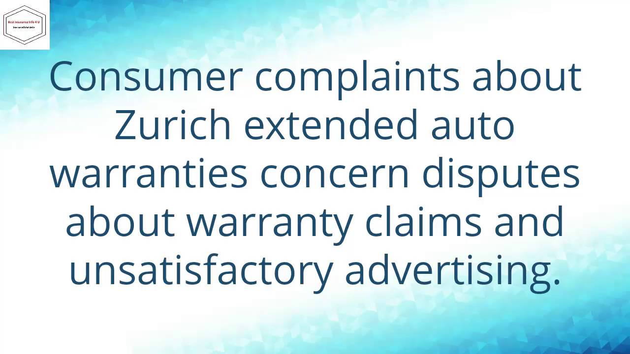 Are Zurich Extended Car Warranties A Scam Quick Answer Youtube