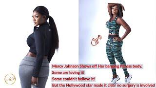 3 Kids & No Surgery Actress Mercy Johnson Displays Her Hourglass Fitness Figure