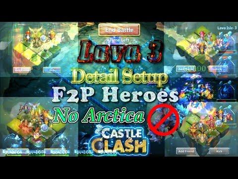 Castle Clash Lava 3 Detail Setup ( F2P Heroes)