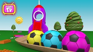 Learn colors with balls and toys - cartoons for children