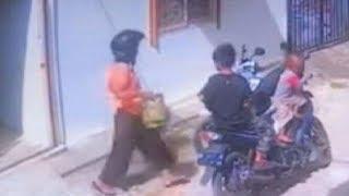 Ibu Hamil Terekam CCTV Saat Mencuri Gas, Korban Sempat Iba