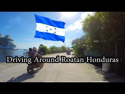 4K - Driving Around Roatan, Honduras