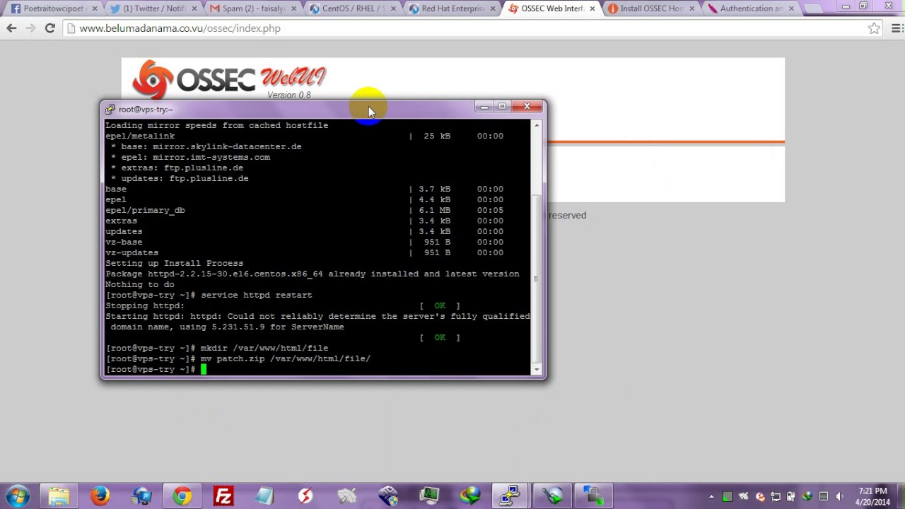 Setup OSSEC IDS (Intrusion Detection System) On Centos Linux