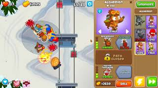 Bloons TD 6 - Hard, Magic Monkey's Only , Alpine Run, (NO MONKEY KNOWLEDGE)