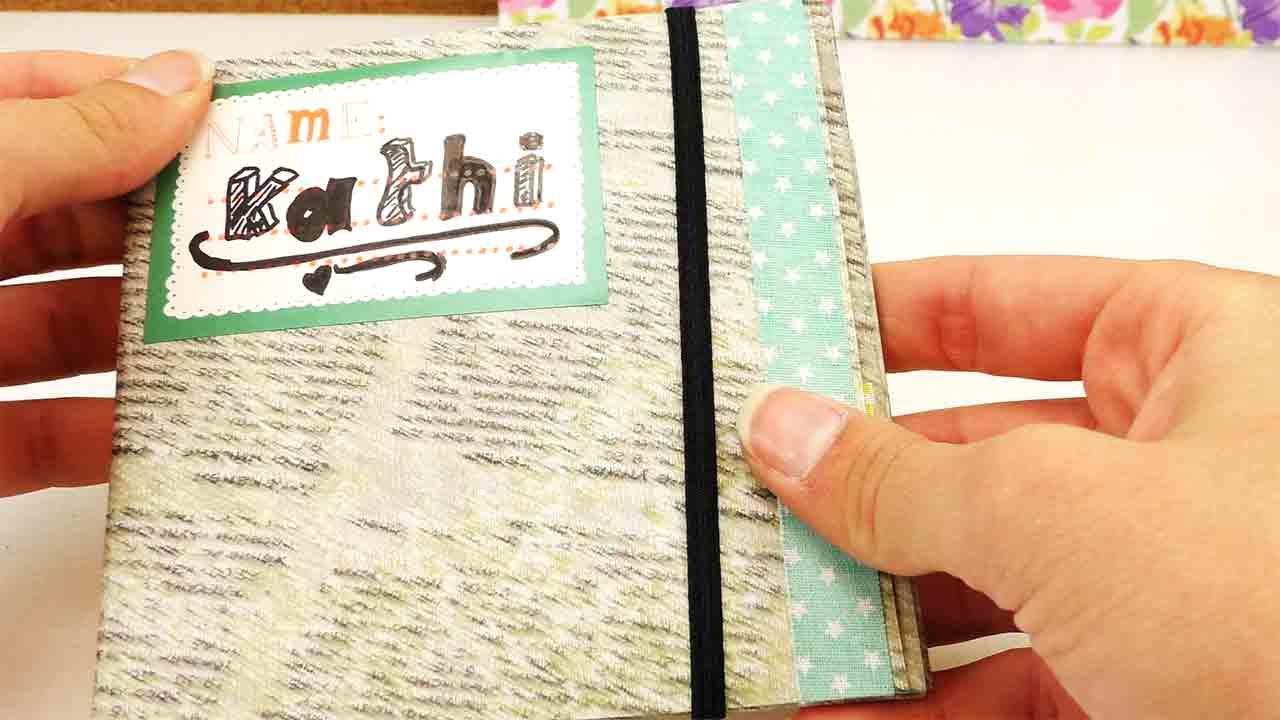 diy school supplies mini mappe f r sticker oder eine cd geschenk gutscheinh lle youtube. Black Bedroom Furniture Sets. Home Design Ideas