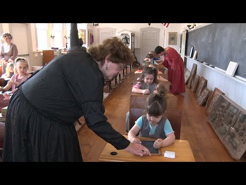 Today's Students Learn History In 19th Century One-room Schoolhouse