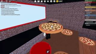 Roblox #27 Work at the Pizza Place-I put my order to my clone • _ •
