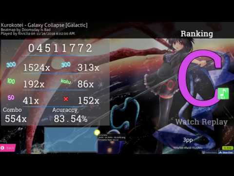 osu! | Riviclia | Kurokotei - Galaxy Collapse [Galactic] +EZ 83.54% FIRST EZ PASS!