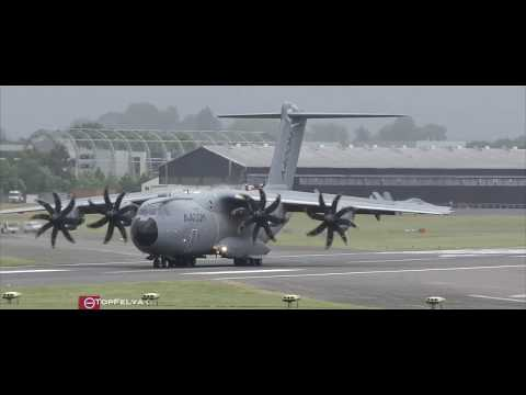 Extremely short tactical landing and takeoff Airbus A400M