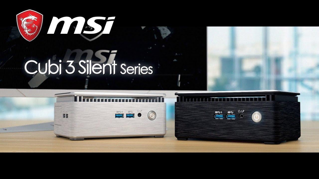 Cubi 3 Silent series | The Fanless Aluminum mini PC | MSI