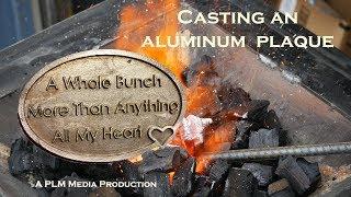 Casting an aluminum plaque