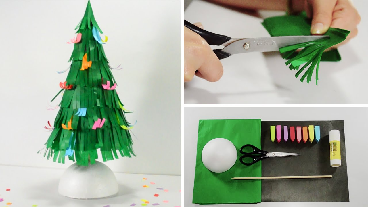 Como Decorar Un Arbol De Navidad De Cartulina
