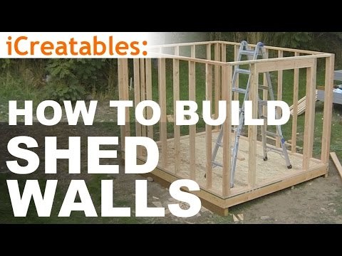 How To Build A Shed – Part 5 – Wall Framing