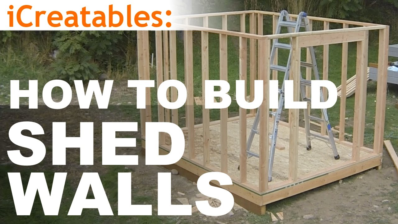 How to build a shed part 5 wall framing youtube for What do i need to do to build a house