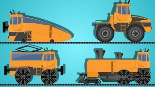 transformer | cartoon trains for children | educational video |  trains for kids | kids vehicles