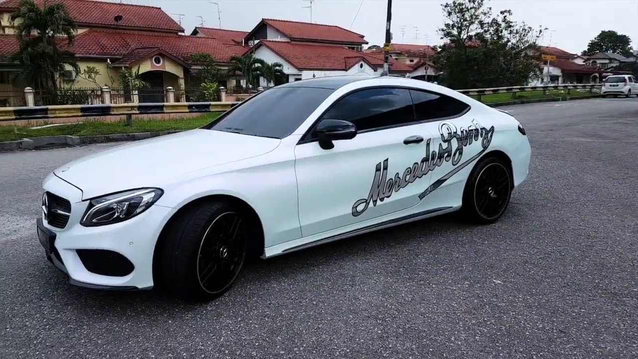 Mercedes C Class Coupe Wrapped With Pearl White Youtube