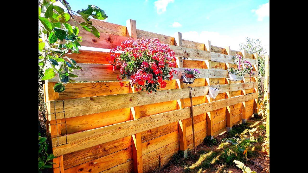 Brise Vue Terrasse Bois fabrication d'une pallissade brise-vue en bois
