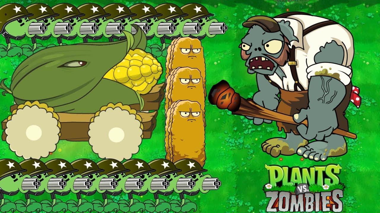 1 Cob Cannon Vs 999 Zombies Heroes (PvZ 2)   Plants Vs Zombies: Garden Warfare 2