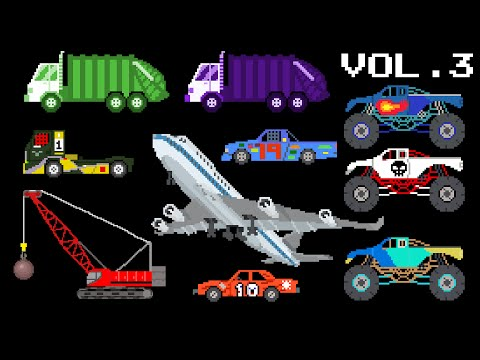 Vehicles Collection Volume 3 - Sports, Colors, Counting, Song - The Kids' Picture Show