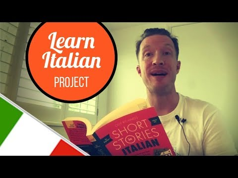 Reading from Italian Short Stories for Beginners by Olly Richards | Italian Week 9 Update