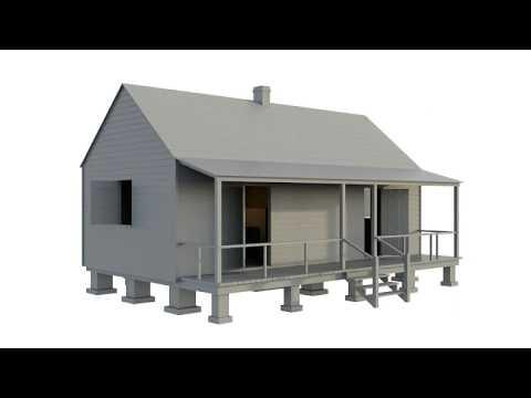 uncle-sam-plantation:-double-pen-slave-cabin-(turntable-render)