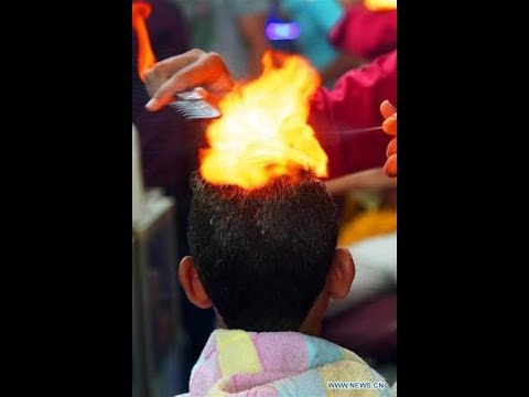 Hairdressing with fire 2018