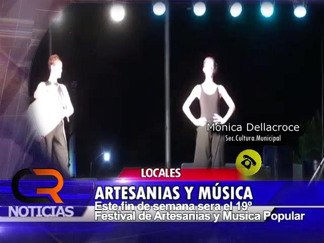 FESTIVAL DE MUSICA POPULAR Y FERIA DE ARTESANIAS CAMILO ALDAO 2018 - NOTA CON MONICA DELLACROCE
