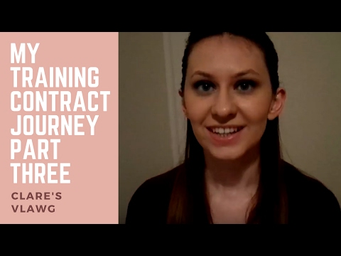 My training contract journey - part three | Clare's vlawg
