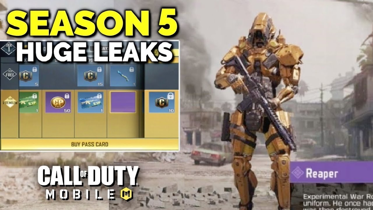 New Season 4 And 5 Huge Leaks In Call Of Duty Mobile New Characters Guns And More Youtube