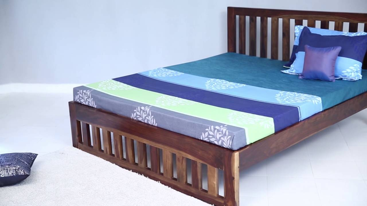 beds - douglas king size bed online in india @ wooden street - youtube