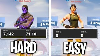 Fortnite EASIER TO WIN On A NEW ACCOUNT? (Expérience Easy Lobbies)