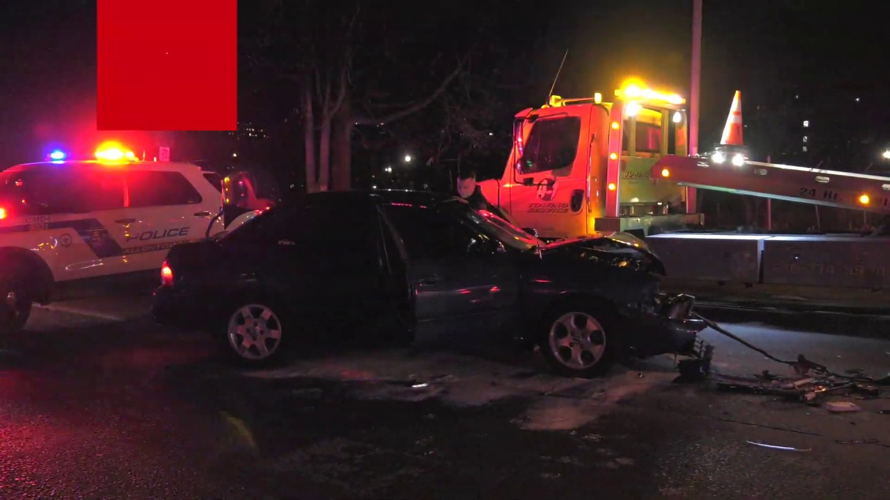 Police investigate car wreck on American Parkway in Allentown, Pennsylvania