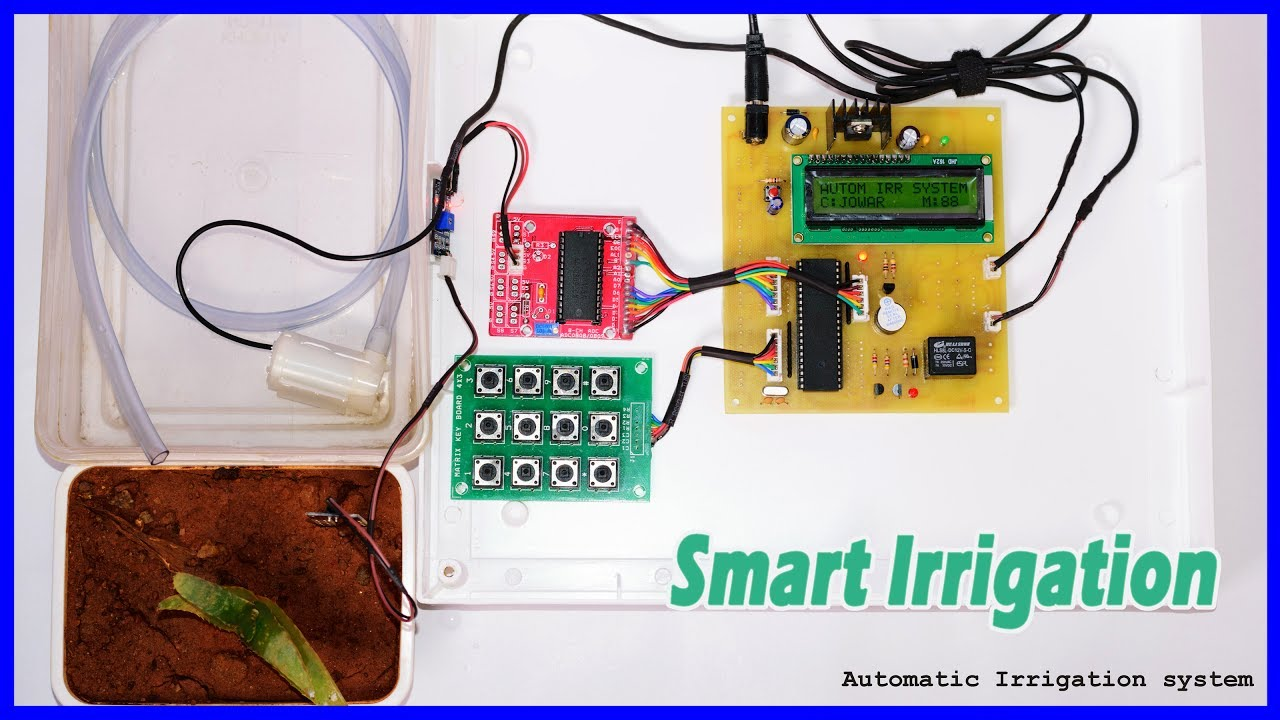 How To Make Smart Irrigation System Using 8051 Microcontroller Youtube Electronics Circuit Board Projects Power Supply Design
