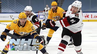 NHL Stanley Cup Qualifying Round: Coyotes vs. Predators | Game 1 EXTENDED HIGHLIGHTS | NBC Sports