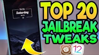 Top 20 Cydia Tweaks For iOS 12-12.1.2 Unc0ver Jailbreak!