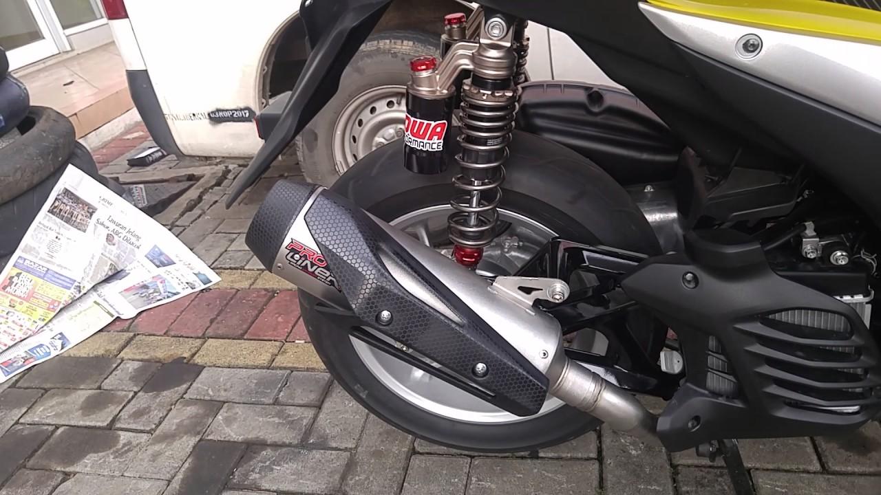 Suara Knalpot Proliner Yamaha Aerox Prospeed Black Series Nmax 150 Fullsystem