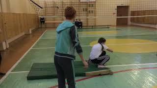 """Урок физкультуры в 5 классе, МБОУ""""СОШ № 8"""". Ларькина Н. В."""
