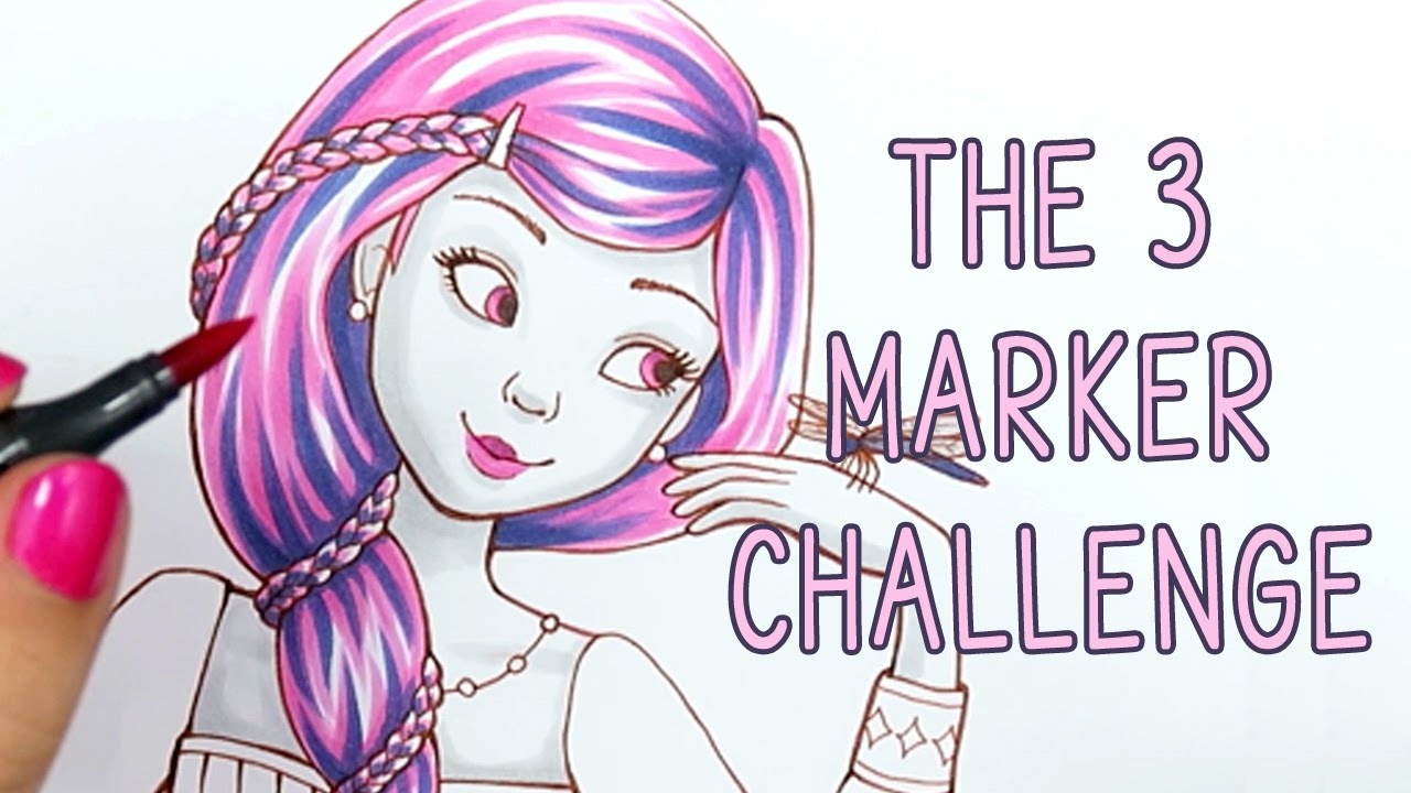 THE 3 MARKER CHALLENGE YouTube