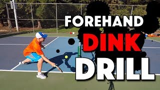 Pickleball Dink Drill | Forehand Dinks