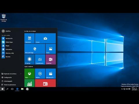 Configuración del Menú inicio en Windows 10