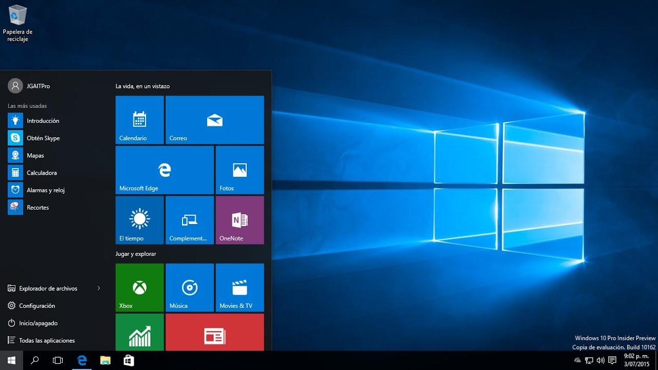 fd1f5c405efb6 Configuración del Menú inicio en Windows 10 - YouTube