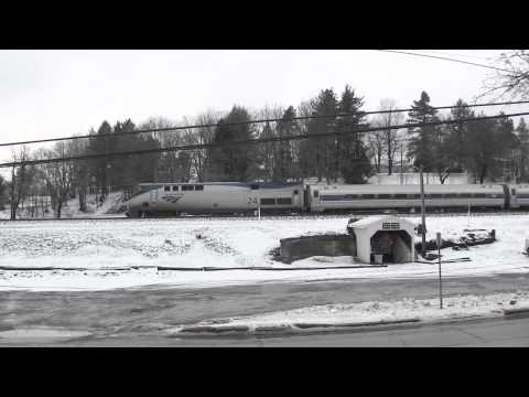 Amtrak Pennsylvanian, train 43 NS 07T, Station Inn Cresson, PA 2.27.13