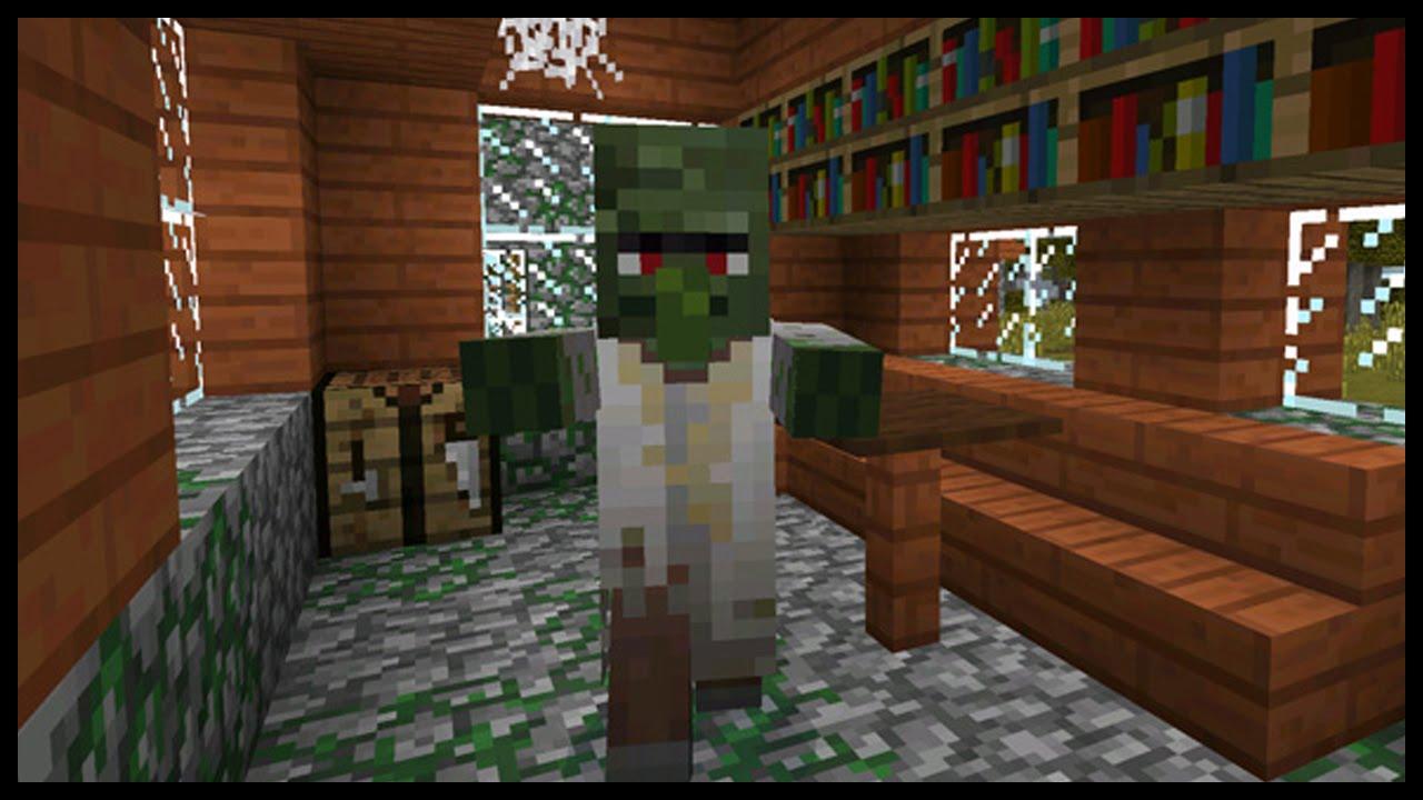 Minecraft PE ABANDONED VILLAGE SEED| Zombie village seed MCPE (Pocket  Edition)