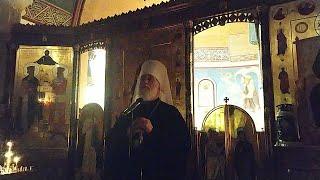 Проповедь митрополита Минского Павла после  Великого канона во вторник в монастыре Минска.
